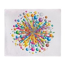 Exploding Color Throw Blanket