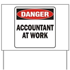 Accountant Yard Sign