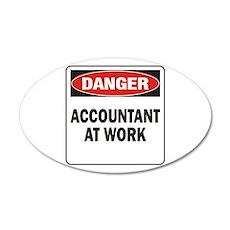 Accountant 38.5 x 24.5 Oval Wall Peel