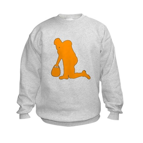 Kneeling Football Player Kids Sweatshirt