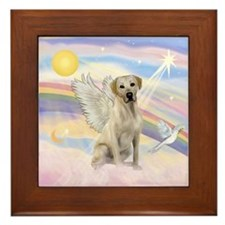 Yellow Labrador Angel Framed Tile