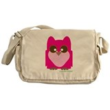 """Pink Owl"" Messenger Bag"