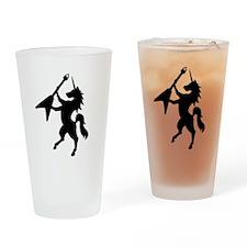 Unicorn Rock Drinking Glass