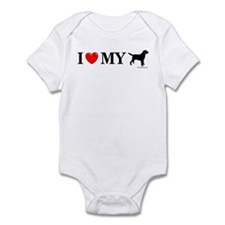 Love My Lab Silhouette Infant Bodysuit