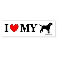 Love My Lab Silhouette Bumper Sticker
