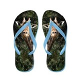 Helaine's Smiling Giraffe Flip Flops