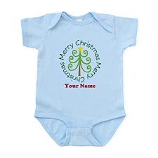 Personalized Christmas Tree Infant Bodysuit