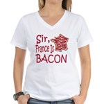 Sir France Is Bacon Women's V-Neck T-Shirt