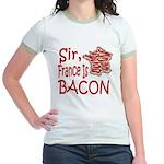 Sir France Is Bacon Jr. Ringer T-Shirt