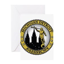 Michigan Detroit LDS Mission Greeting Card