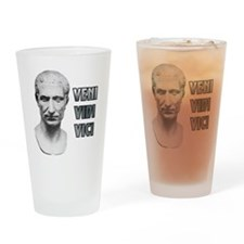 Funny Veni vidi vici Drinking Glass