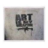 Art is my Weapon Throw Blanket