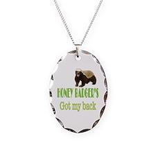 Honey Badger's Got My Back Necklace