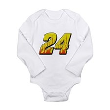 JG24flame Long Sleeve Infant Bodysuit