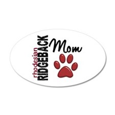 Rhodesian Ridgeback Mom 2 22x14 Oval Wall Peel