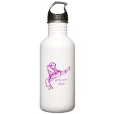 Girls Can't what? Water Bottle