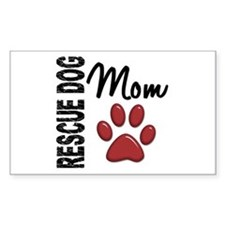 Rescue Dog Mom 2 Decal