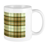 Retro Green Plaid Mug