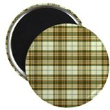 "Retro Green Plaid 2.25"" Magnet (100 pack)"