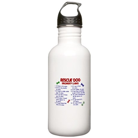 Rescue Dog Property Laws 2 Stainless Water Bottle