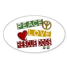 Peace Love Rescue Dogs Decal