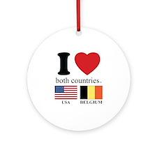 USA-BELGIUM Ornament (Round)