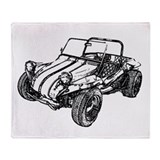 Retro Dune Buggy Throw Blanket