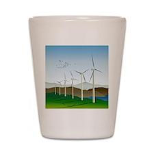 Wind Turbines Shot Glass