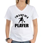 I'm a bit of a player table tennis Women's V-Neck