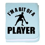 I'm a bit of a player table tennis baby blanket