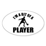 I'm a bit of a player table tennis Sticker (Oval 1