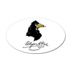 The Raven by Edgar Allan Poe 38.5 x 24.5 Oval Wall