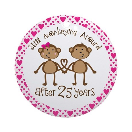 25th Anniversary Monkey Love Ornament