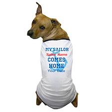 Customizable Sailor Homecomin Dog T-Shirt