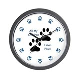 All My Children Have Paws 1 Wall Clock