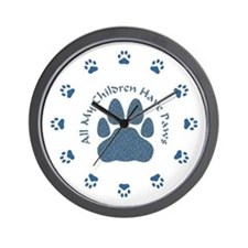 All My Children Have Paws 2 Wall Clock