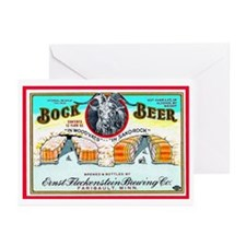 Minnesota Beer Label 3 Greeting Cards (Pk of 20)