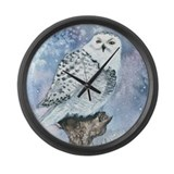 Snowy Owl Large Wall Clock
