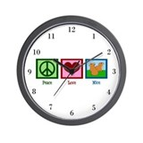 Peace Love Mice Wall Clock