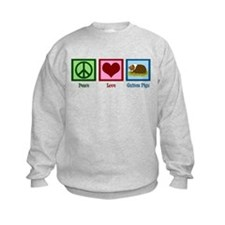 Peace Love Guinea Pigs Sweatshirt