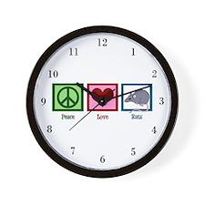 Peace Love Rats Wall Clock