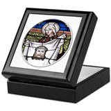 St. Veronica Stained Glass Window Keepsake Box