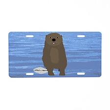 Otter Aluminum License Plate
