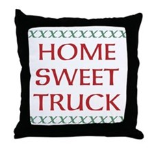 Home Sweet Truck Throw Pillow