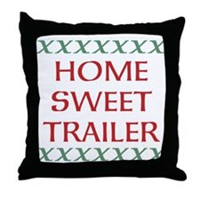 Home Sweet Trailer Throw Pillow