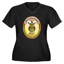 Pennsylvania Beer Label 6 Women's Plus Size V-Neck