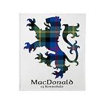 Lion - MacDonald of Borrodale Throw Blanket