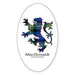 Lion - MacDonald of Borrodale Sticker (Oval 10 pk)