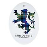 Lion - MacDonald of Borrodale Ornament (Oval)