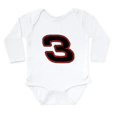 DE3blk Long Sleeve Infant Bodysuit